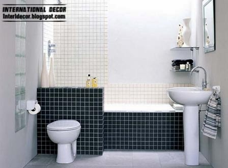 black and white tiles for bathroom, black tiles wall and floor