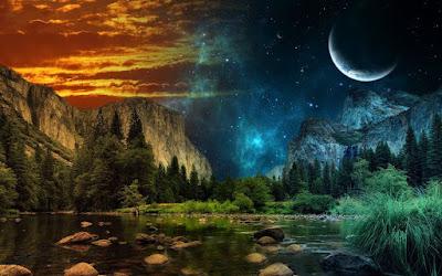 Gambar Pemandangan Alam Ghaib Panorama Mistik Gaib