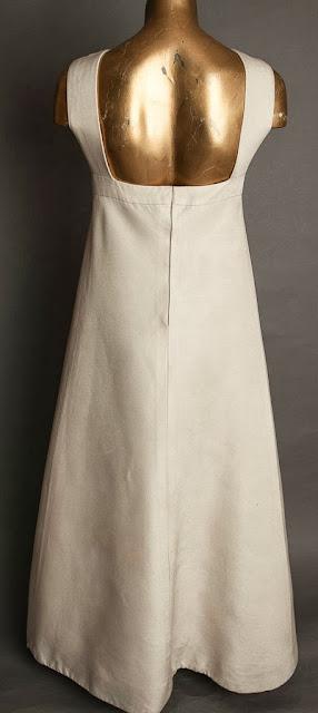 Rear view of Christian Dior 1960s wedding dress, c. HVB vintage wedding blog 2013
