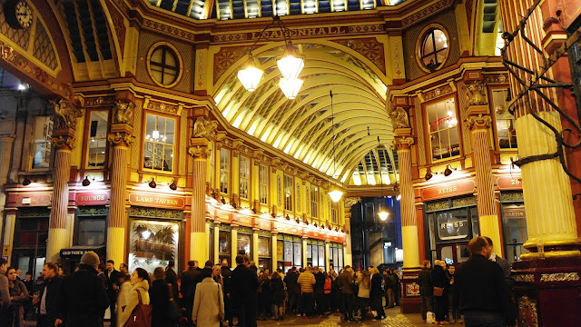 Leadenhall Market by night