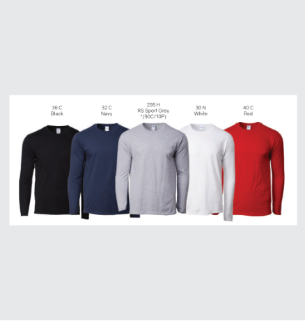 gildan Long sleeve color