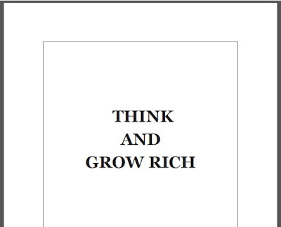 Think and grow rich by napoleon hill Download eBook in PDF
