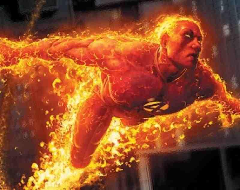 Goku Vs. Human Torch & Iceman