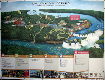 Foz - Cataratas lado brasileiro mapa