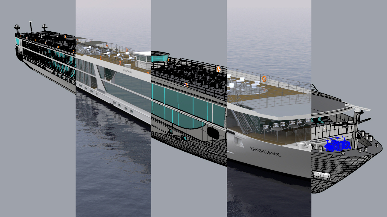 Rhinoceros report in order to kickstart the modeling and visualization rhinocentre modeled a new design of a passenger vessel this was based on an existing rough 3d hull baditri Choice Image