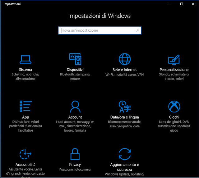Windows 10, Tema scuro