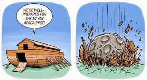 Funny Noah's Ark Cartoon - We're well prepared for the Mayan apocalypse