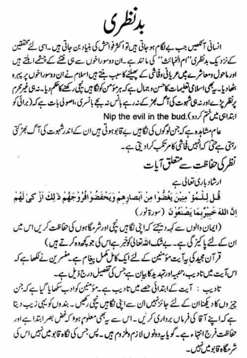 Bad Nazri Urdu Book