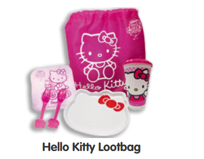 Loot bag for Jollibee Party Theme - Hello Kitty Fun Carnival