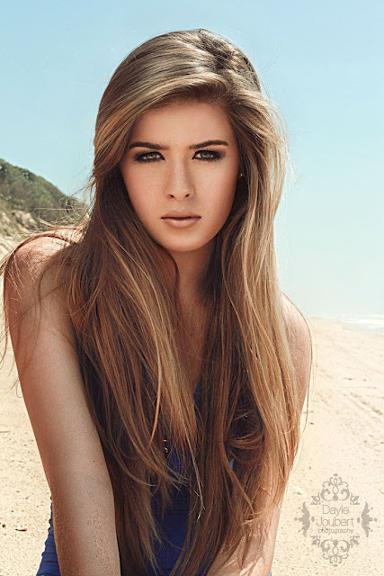 long blonde waist length hair