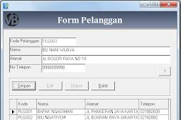 Tutorial Membuat Form Input Pelanggan Program Aplikasi Penjualan VB 6.0 - Part9
