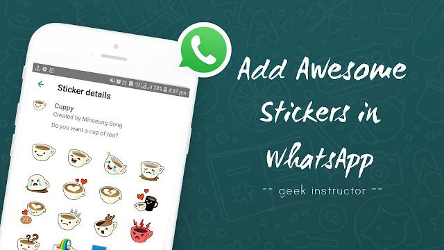 Add stickers in WhatsApp
