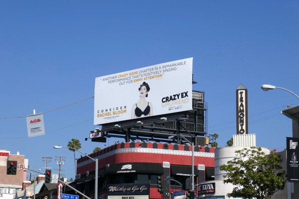 Crazy Ex-Girlfriend season 3 Emmy FYC billboard