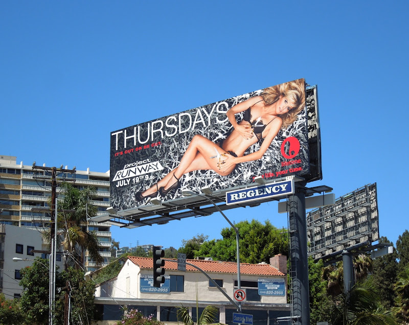 Heidi Klum Project Runway 10 billboard