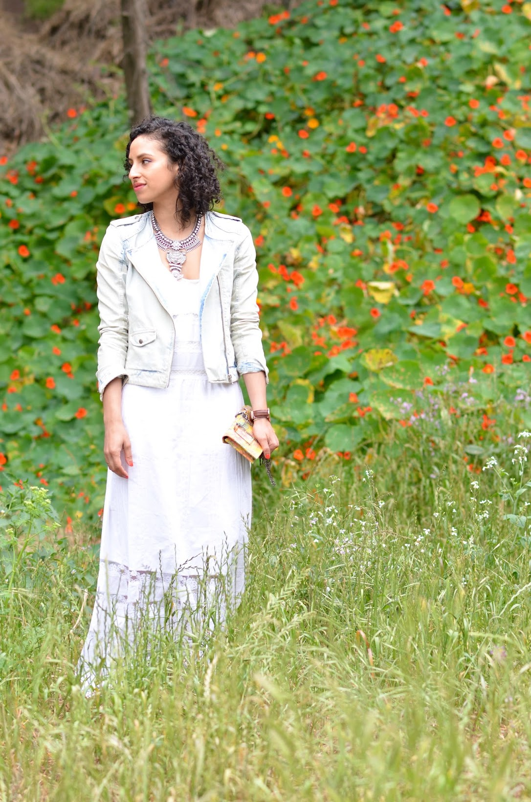 summer white maxi, Candala maxi dress, Candela, summer style, short curly hair, Summer in San Francisco, BaubleBar,