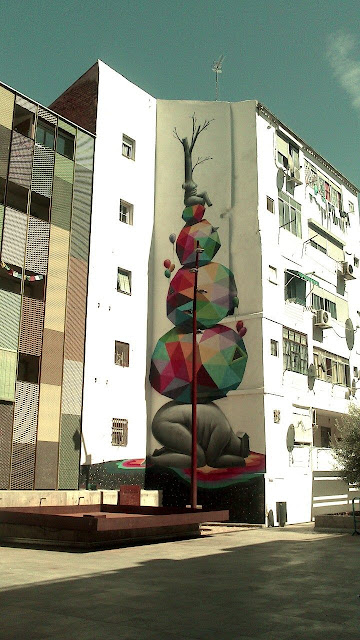 Street Art By Spanish Artist Okuda On The Streets Of Zaragoza, Spain. 3