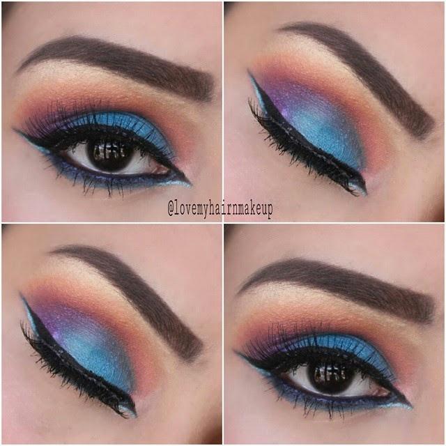 Blue eyeshadow eye makeup
