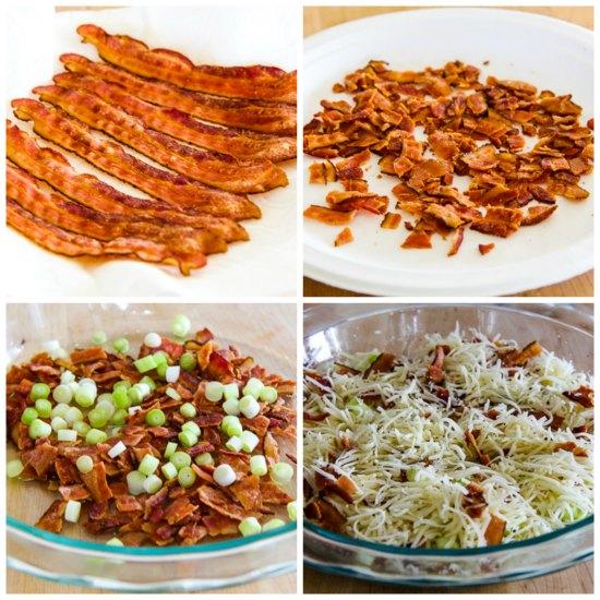 Low-Carb Cheesy Crustless Quiche Lorraine found on KalynsKitchen.com