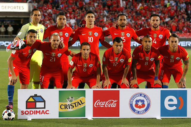 Formación de Chile ante Uruguay, Clasificatorias Rusia 2018, 15 de noviembre de 2016
