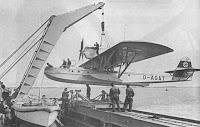 El hidroavión Boreas subido a bordo del MS Schwabenland