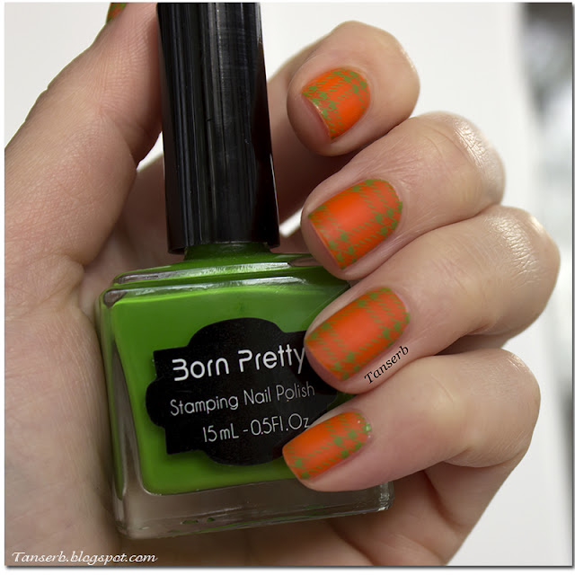 Краска для стемпинга Born Pretty Nail Art Stamping Polish Fluorescent Green Nail Polish № 12
