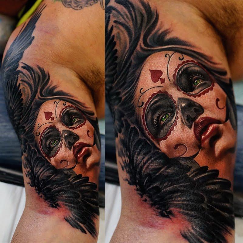 Tatuajes del dia de los muertos, Catrinas Calaveras y muertecitos