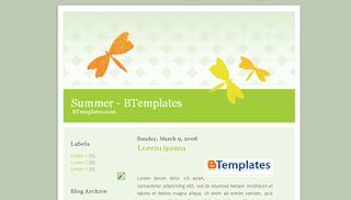 Summer Blogger Template