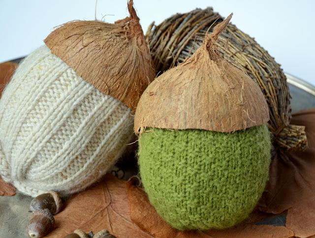 DIY sweater acorns