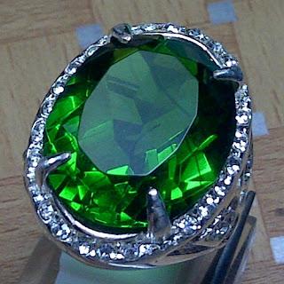 Cincin Batu Permata Green Tektite - ZP 955
