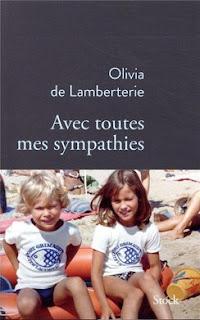 Avec toutes mes sympathies Olivia de Lamberterie