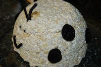 rice krispy bug birthday cake