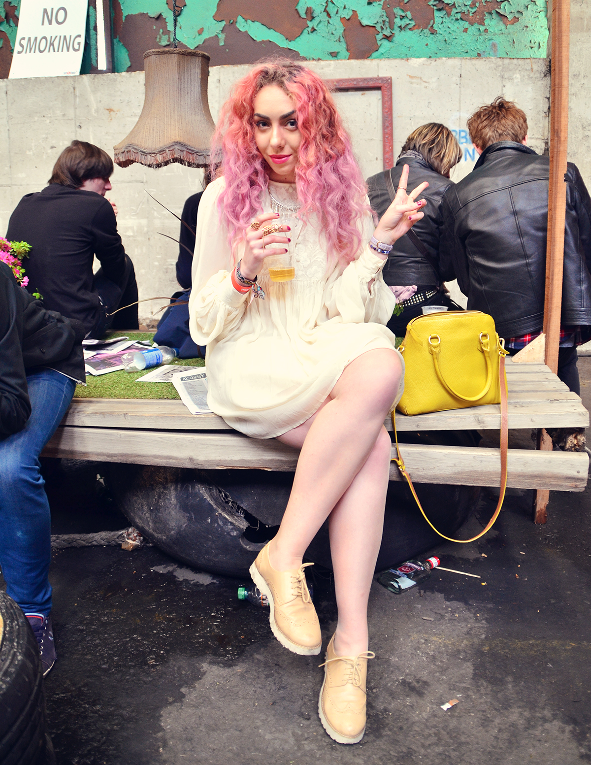 Chilling out at Liverpool Sound City Festival Street Style Stephi LaReine