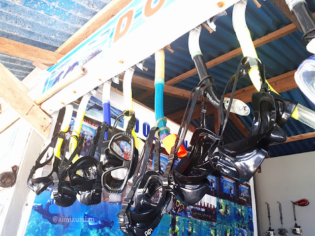 Rental snorkeling di Bunaken