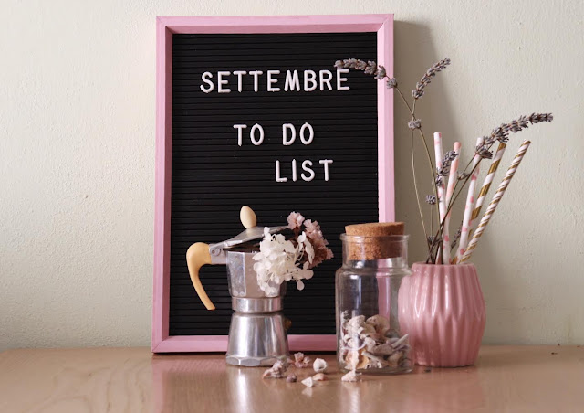 To do list di settembre