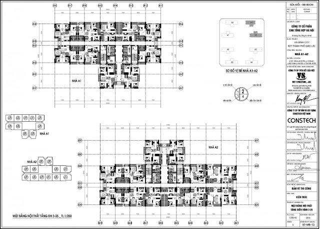 Mặt bằng tổng thể 2 tòa A1 - A2 Chung Cư An Bình City