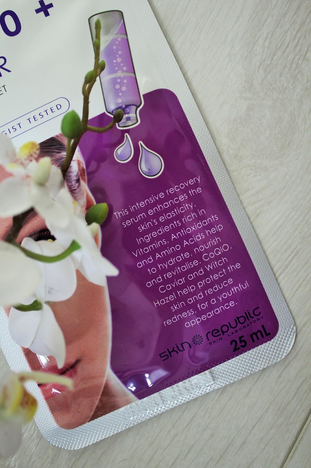 Skin Republic CoQ10 + Caviar Sheet Mask Review