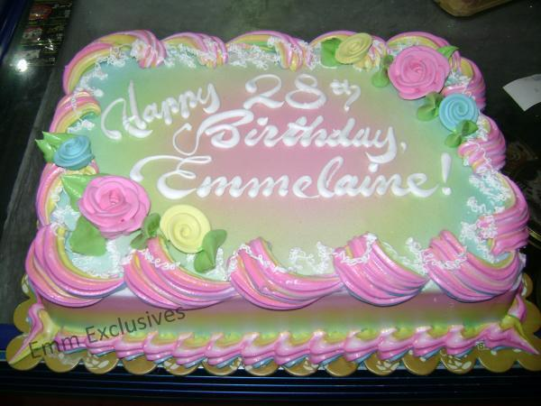 Emm Exclusives: Yummy Sunday: My Rainbow Birthday Cake