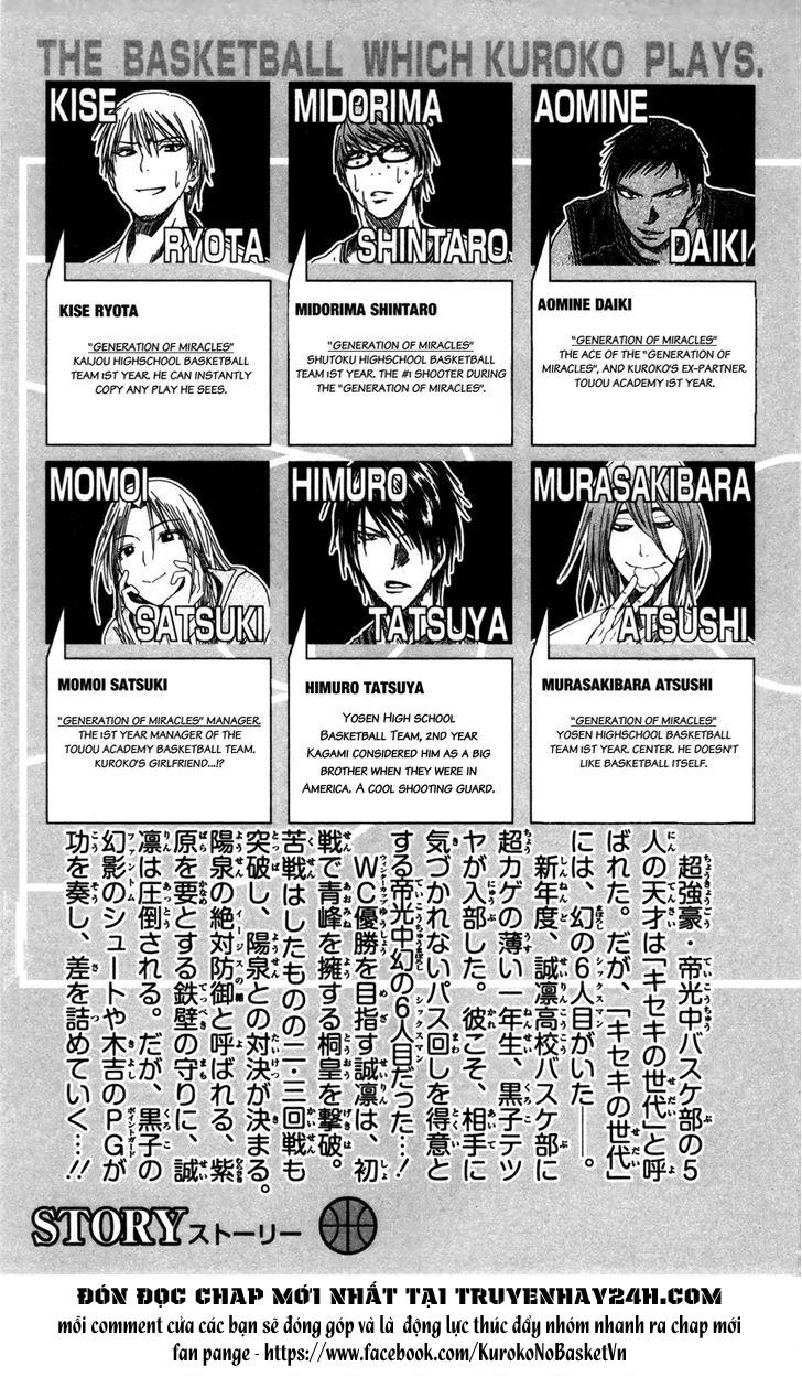 Kuroko No Basket chap 154 trang 4