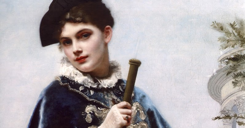 FRENCH PAINTERS: Gustave Jean JACQUET A Portrait of a Noble Lady