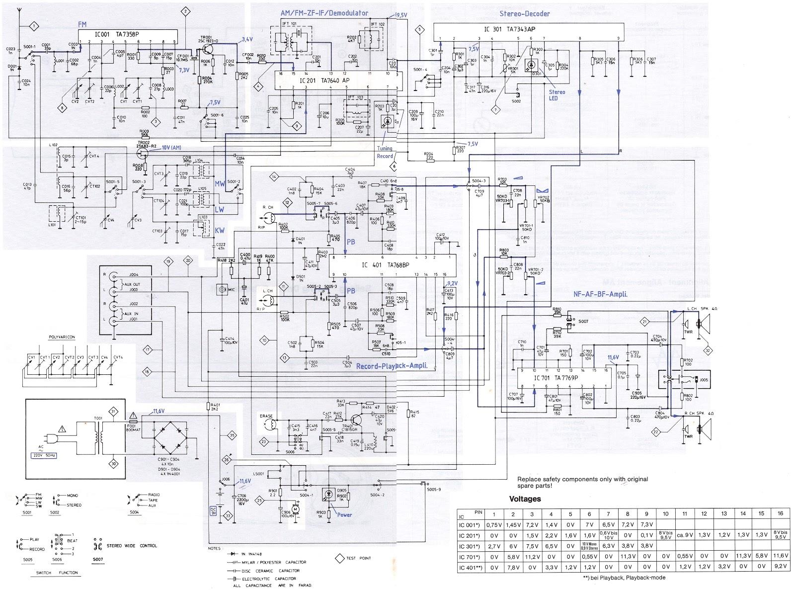 Master Electronics Repair Telefunken Rc760 Pcr22