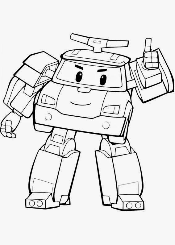 Ausmalbilder zum ausdrucken ausmalbilder robocar poli - Dessin anime robocar poli ...