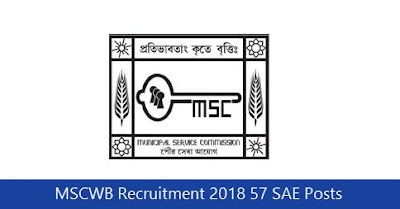 MSCWB Recruitment 2018 57 SAE Posts