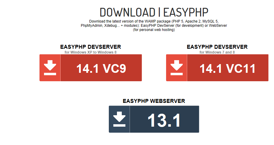 EasyPHP  Download Page