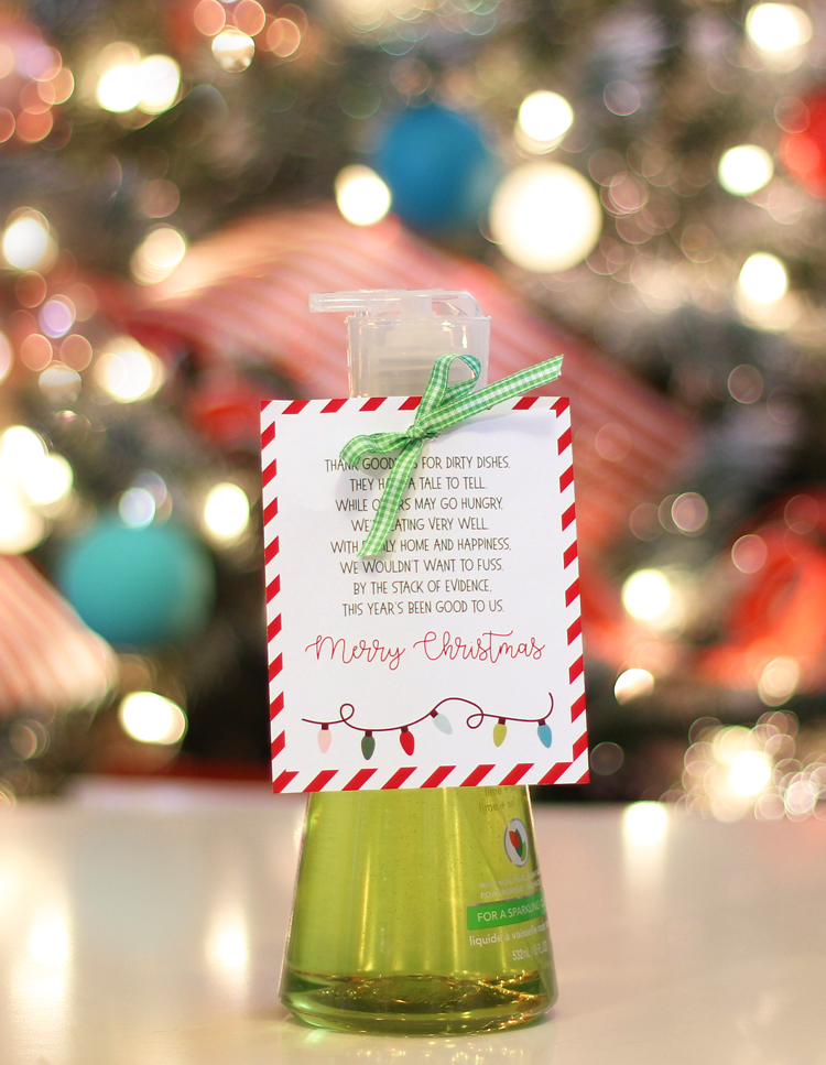 Dish Soap Christmas Gift Idea