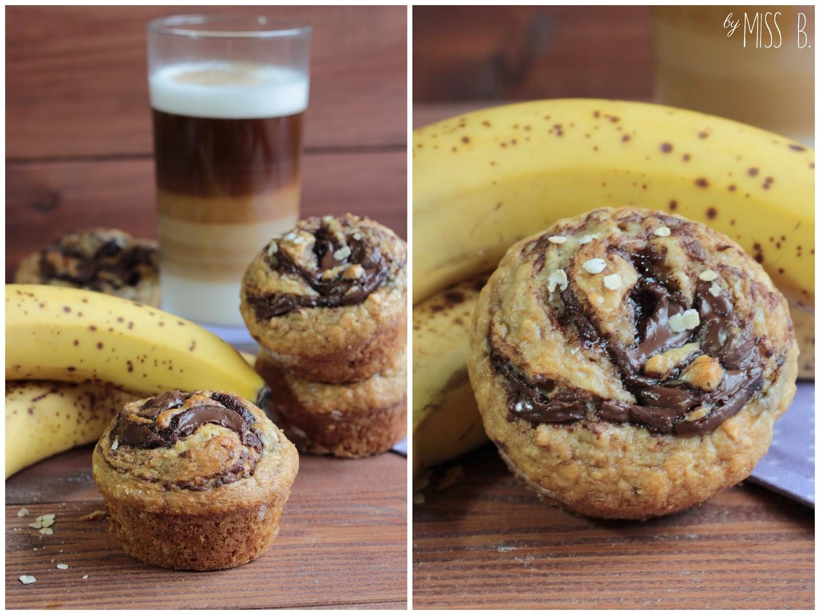 miss blueberrymuffin 39 s kitchen fr hst cksmuffins mit nutella und banane. Black Bedroom Furniture Sets. Home Design Ideas