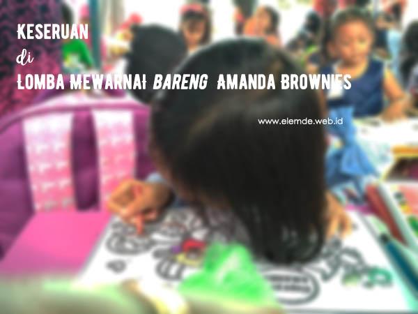 Lomba Mewarnai Bersama Amanda Brownies Balikpapan