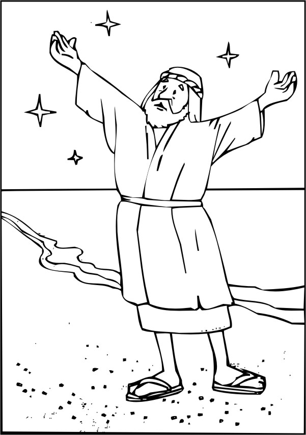 abraham bible coloring pages - photo#5