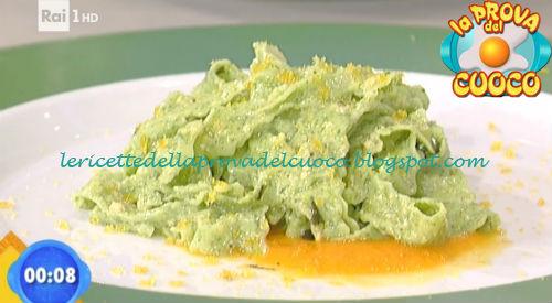 Reginette verdi agli spinaci con salsa di bottarga e zucca ricetta Improta da Prova del Cuoco