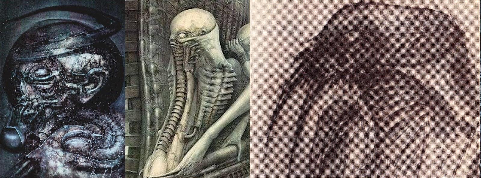 Alien Explorations: Alien: early Alien beast drawing