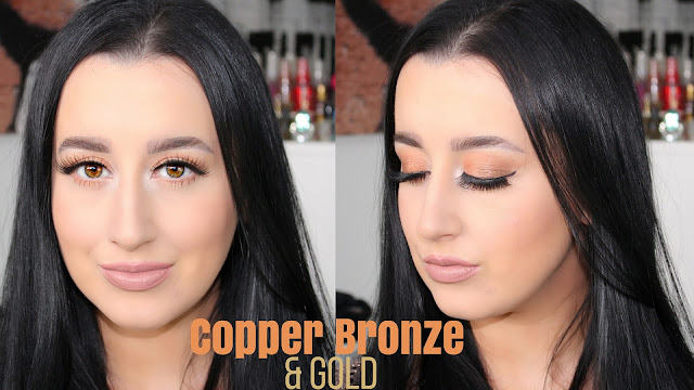 Glowing Copper Bronze & Gold Makeup Tutorial | ColourPop x Kathleen Lights